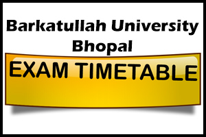 BU Exam TimeTable – 2015 Declared