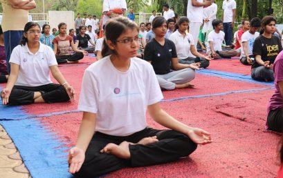 International Yoga Day @ Barkatullah University, Bhopal