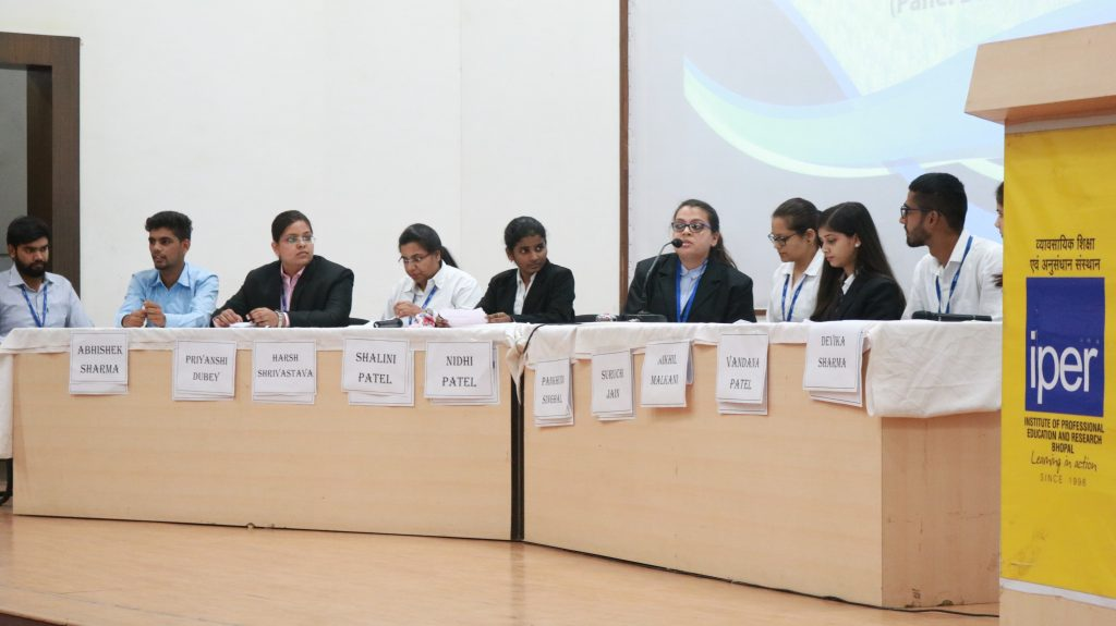 Panel Discussion held in IPER MBA Class of 2020