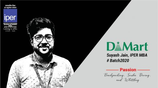 Suyash Jain Placed in DMart at IPER MBA Placements 2020