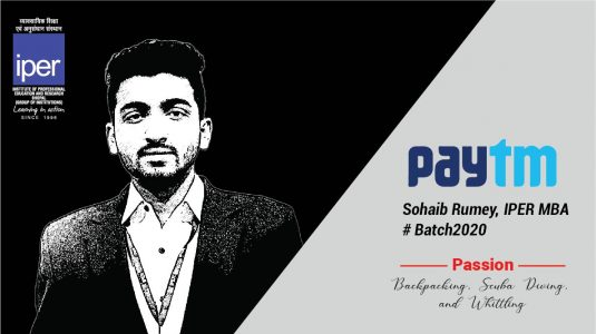 Sohaib Rumey of IPER MBA Placed in Paytm