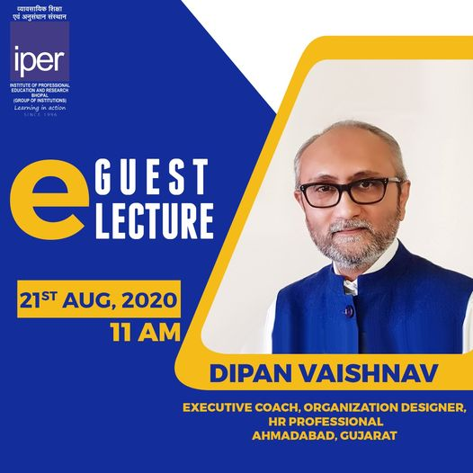 eGuest Lecture by Mr. Dipan Vaishnav – MBA