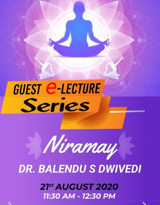 eGuest Session on Health – Niramay – IPER UG Bhopal