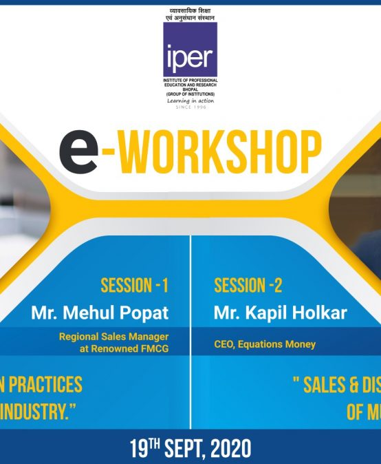 eWorkshop on Sales Practices – IPER MBA