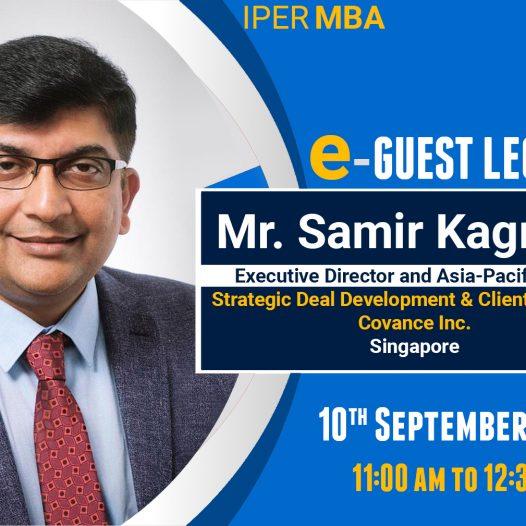 eGuest Lecture: Mr. Samir Kagrana at IPER MBA