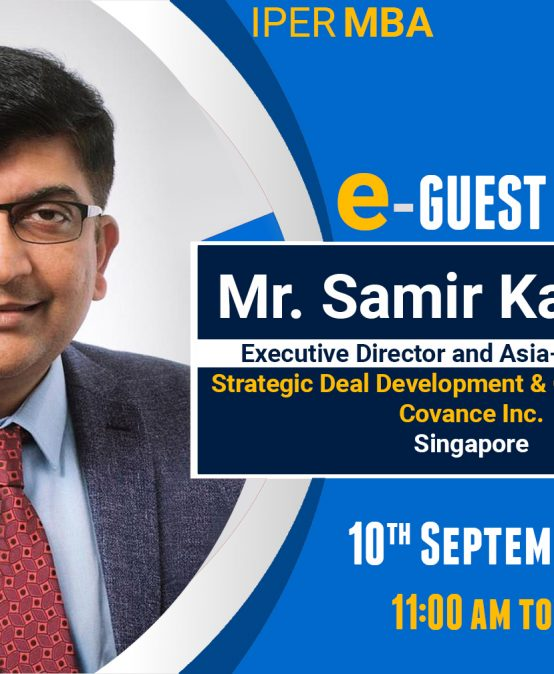 eGuest Lecture: Mr. Samir Kagrana at IPER MBA