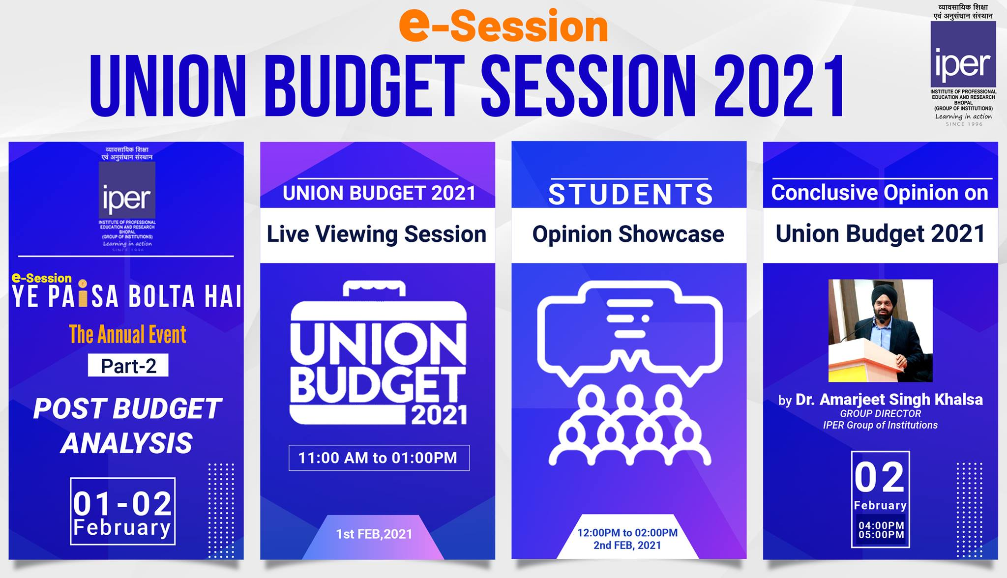 Union Budget 2021 Review Session – 6th Feb, 2021