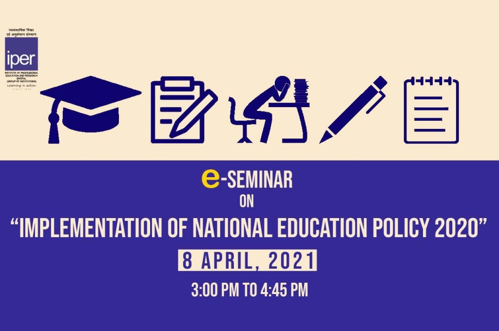 eSeminar held on National Education Policy