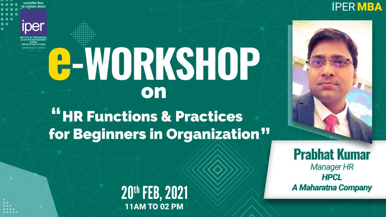 HPCL's HR Functions & Practices for Beginners – eWorkshop