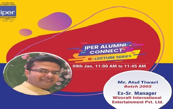 Alumni eConnect Session with Atul Tiwari – Wizcraft International – 9th Jan, 2021