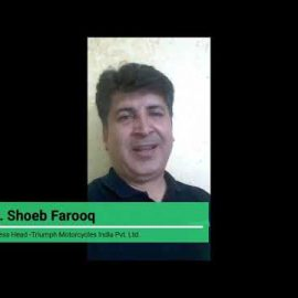 Mr. Shoeb Farooq - General Manager, Triumph Motorcycles India - Alumni of IPER MBA Batch 1997